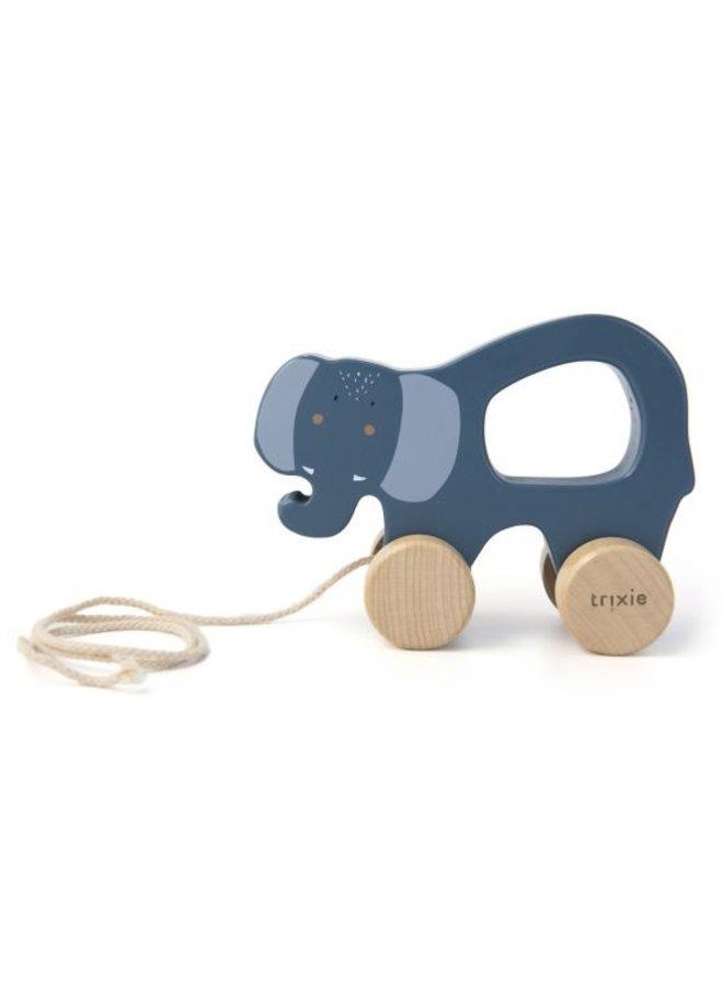 Trixie | houten trekspeeltje | mrs. elephant