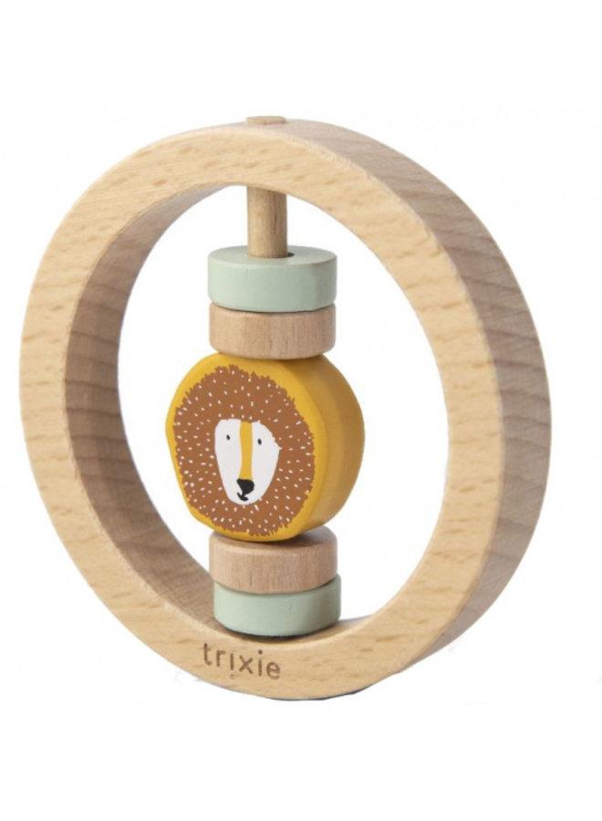 Trixie | houten ronde rammelaar | mr lion