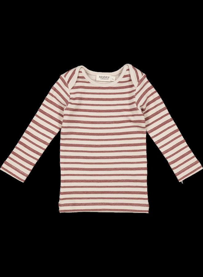 MarMar | tani | t-shirt | light wine stripe