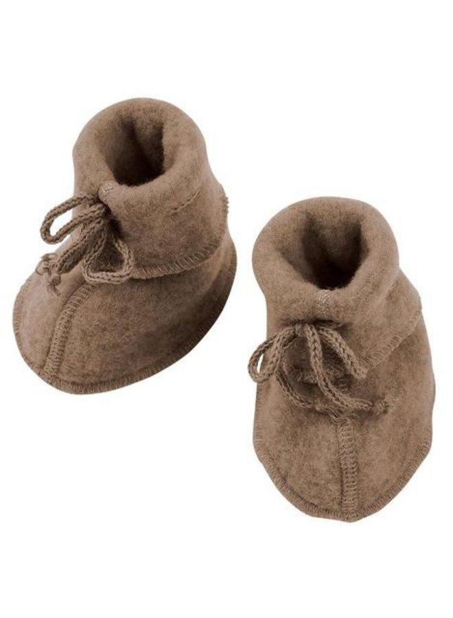 Engel   baby-booties   walnut melange