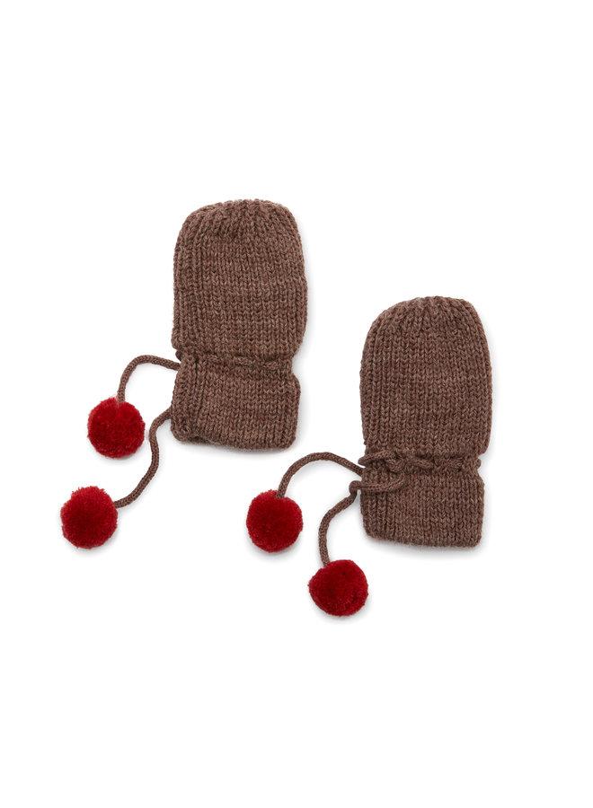 Konges slojd | miro knit mittens | bunny brown melange