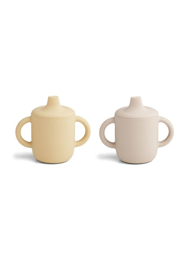 Liewood | neil cup 2 pack | sandy wheat yellow mix
