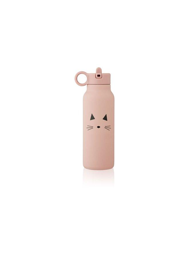 Liewood   falk water bottle 350 ml   cat rose