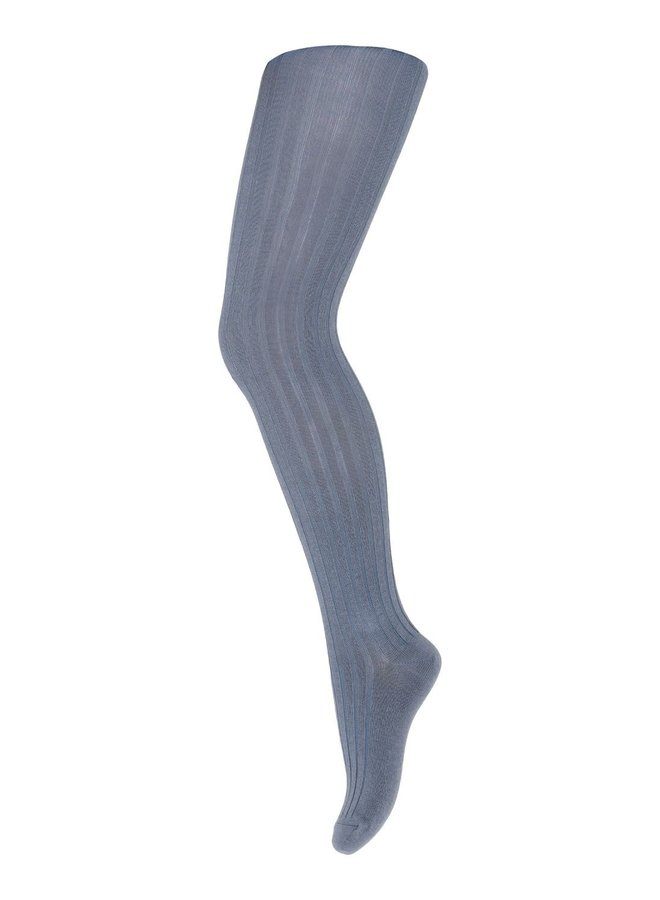 MP Denmark | cotton rib tights | stone blue