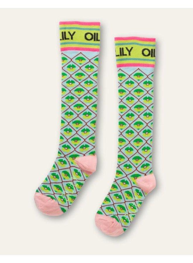 Oilily | manola knee socks | blue