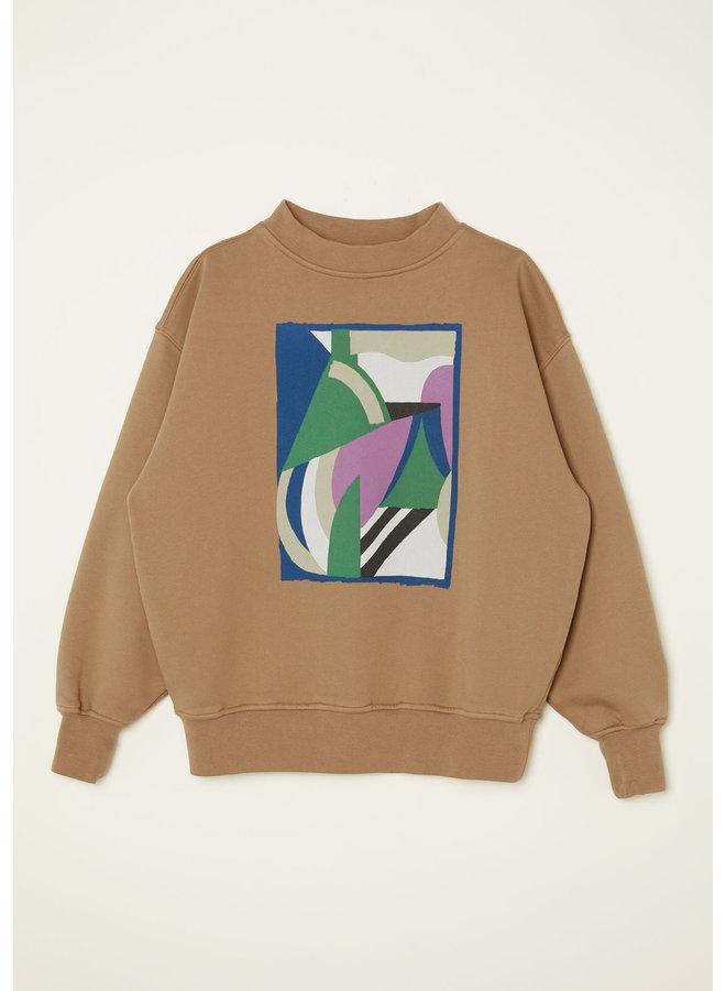 Main story | oversized sweatshirt | walnut