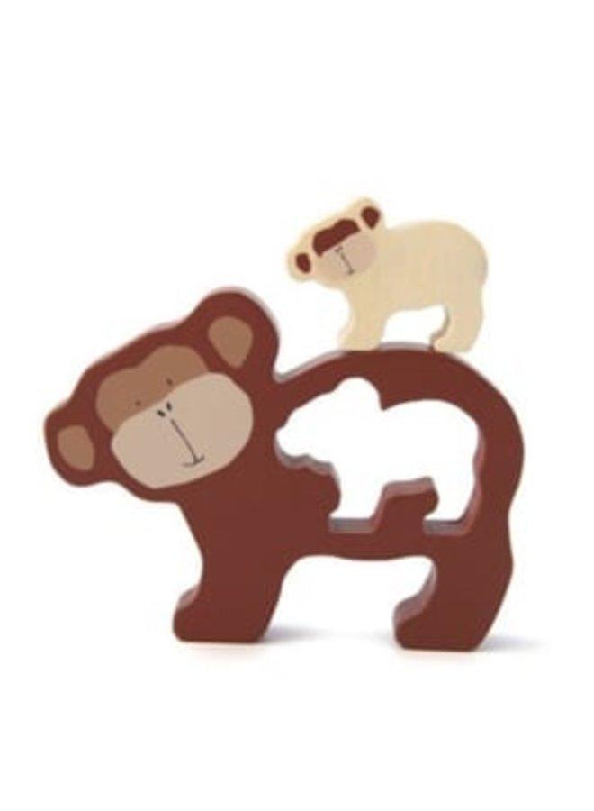 Trixie   houten babypuzzel   mr monkey