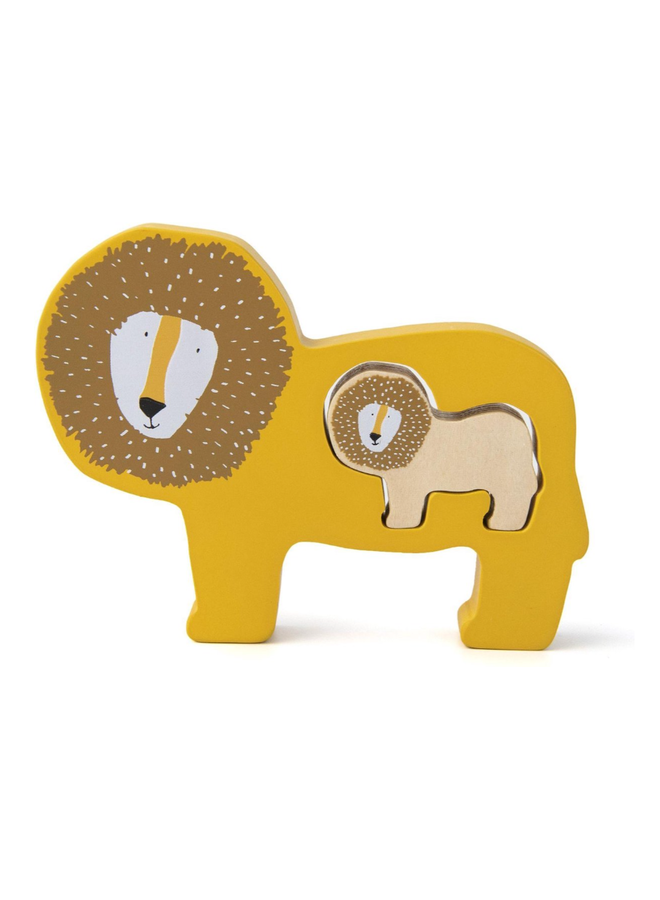 Trixie   houten babypuzzel   mr lion