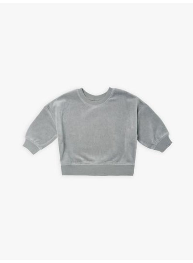 Quincy Mae | drop schoulder sweatshirt | dusty-blue