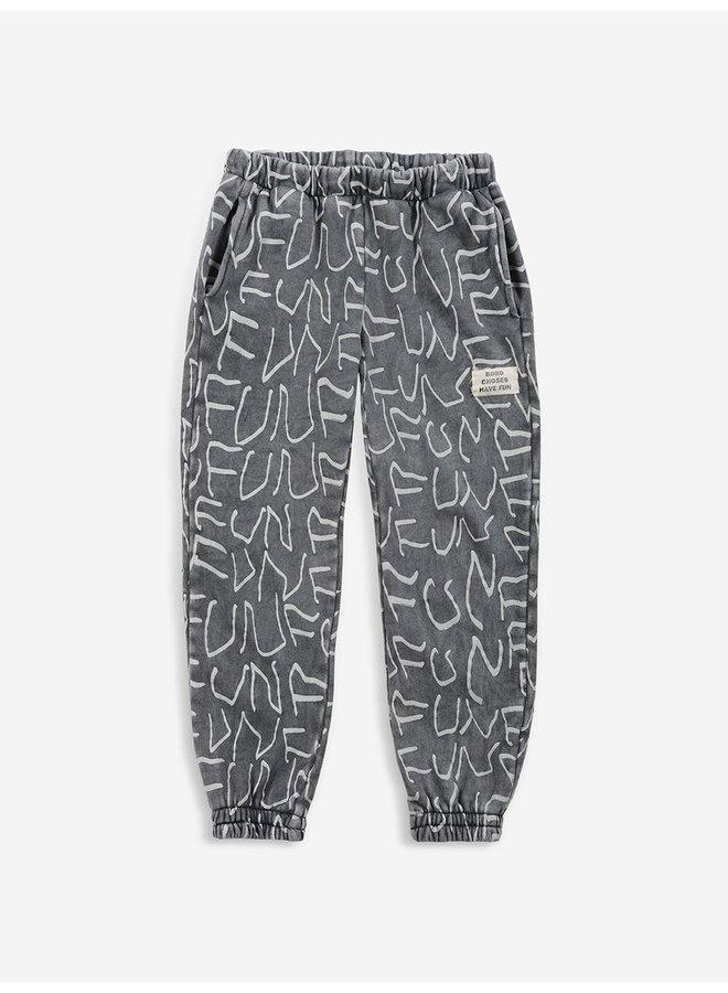 Bobo Choses   fun letters allover jogging pants