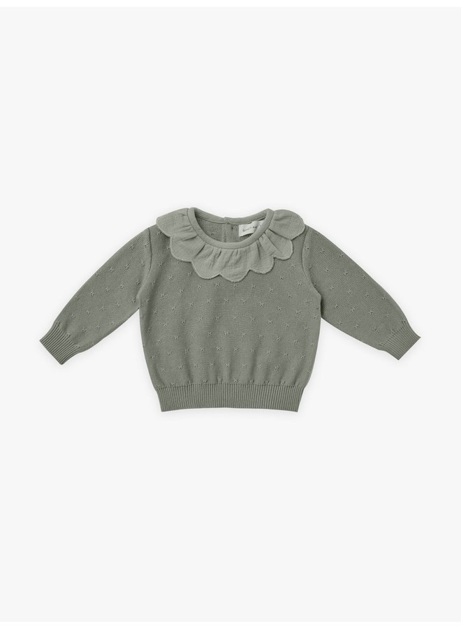 Quincy Mae | petal knit sweater | basil