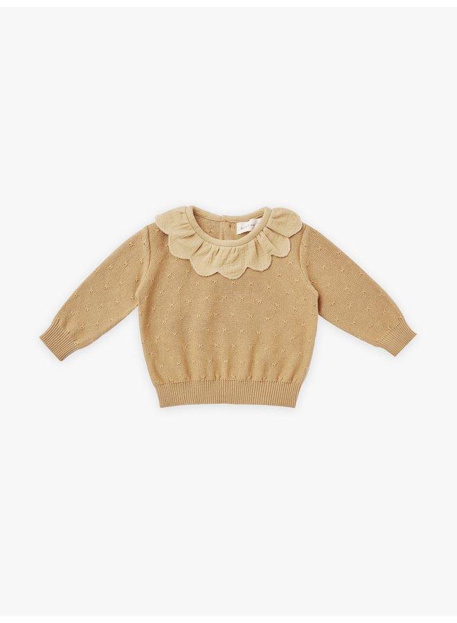 Quincy Mae | petal knit sweater | honey