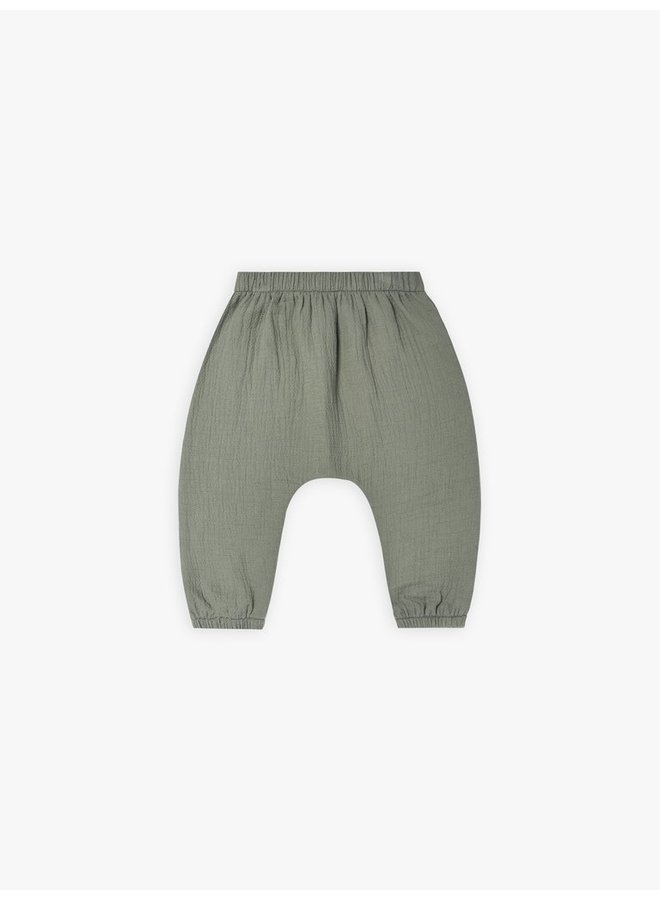 Quincy Mae   woven pant   basil