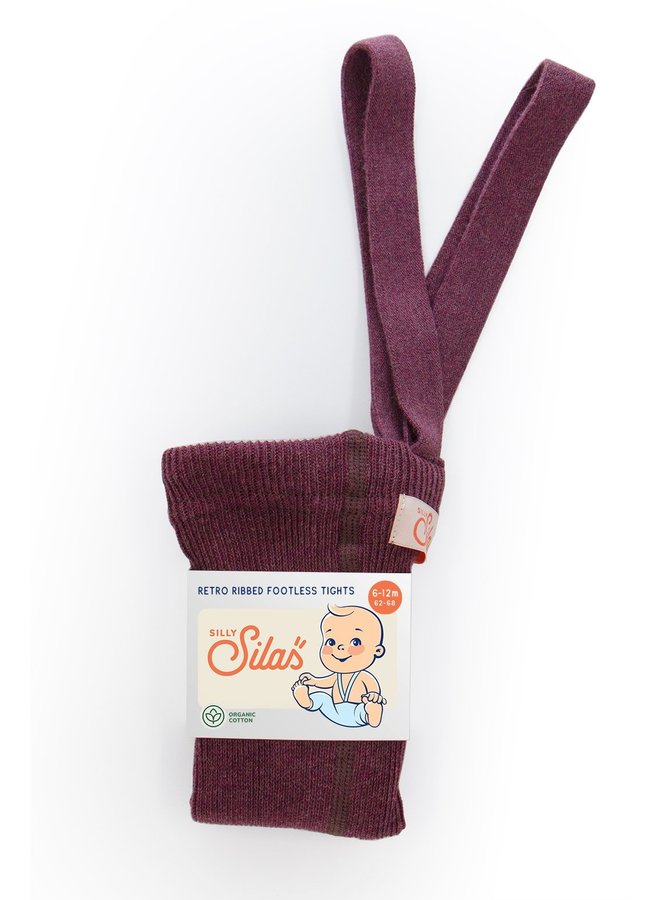Silly Silas   footless cotton tights   fig blend