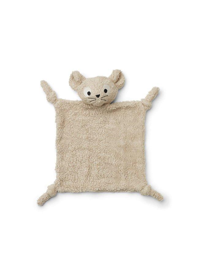 Liewood   lotte cuddle cloth   mouse pale grey