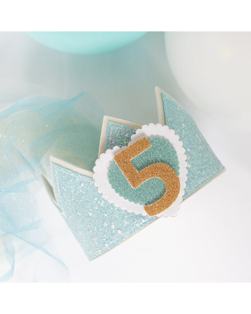 Cijfers en hartje voor de Glitter Elsa kroon
