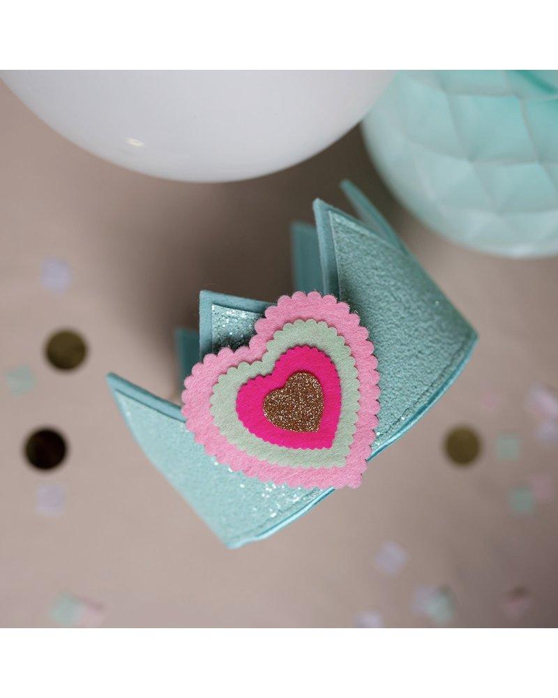 Verjaardagskroon Glitter Mint