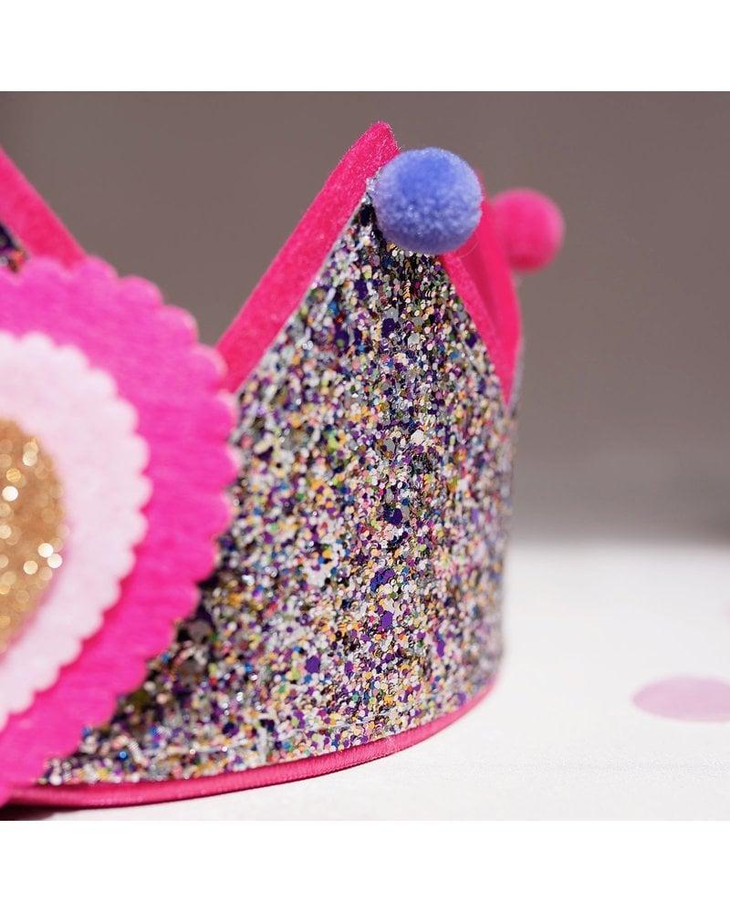 Verjaardagskroon Glitter Pompom
