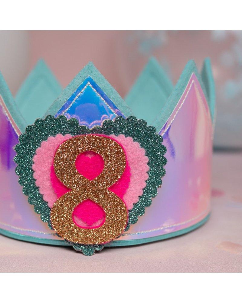 Verjaardagskroon Glitter Holographic