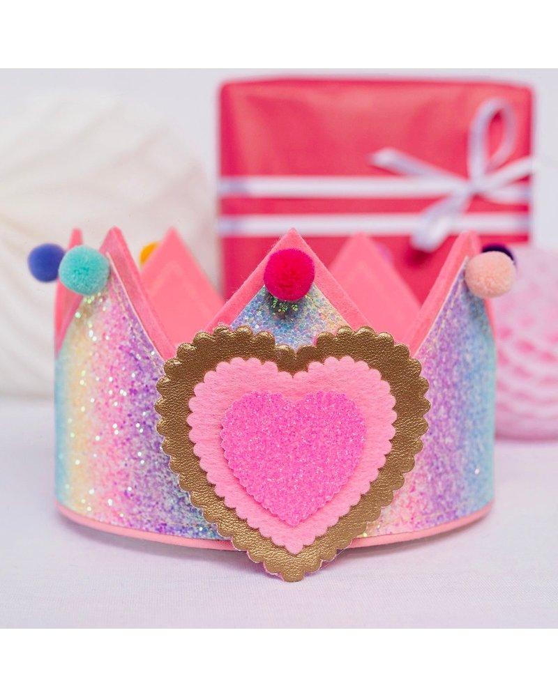 Cijfers en hartje voor de Glitter Rainbow kroon