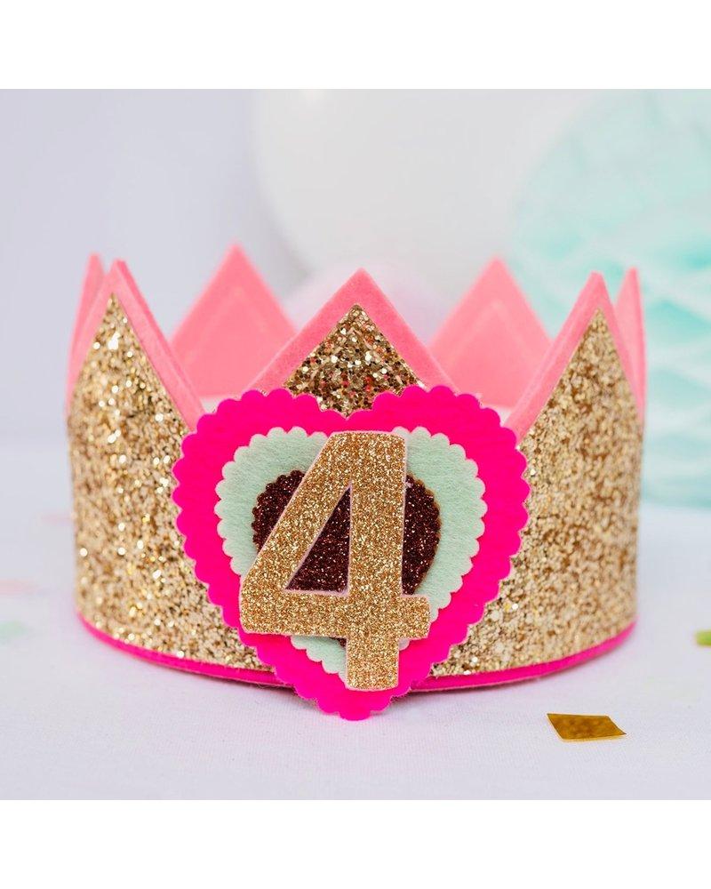 Cijfers en hartje voor de Glitter Happy kroon