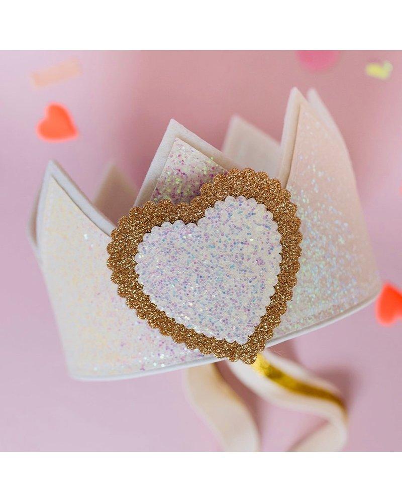 Cijfers en hartje voor de Glitter White kroon