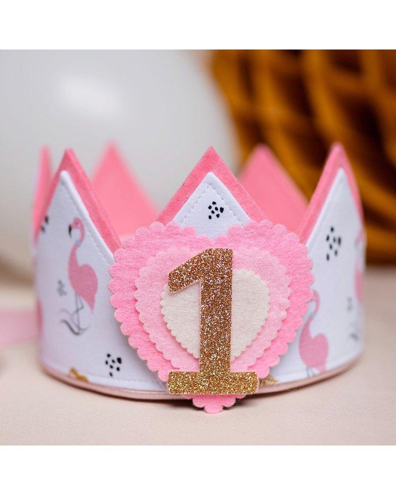 Cijfers en hartje voor de Sweet Flamingo kroon