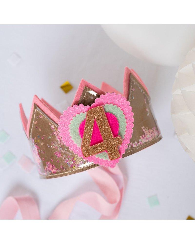 Cijfers en hartje voor de Confetti Twinkel Twinkel Little Star goud