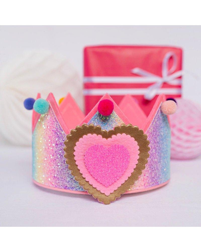 Verjaardagskroon Glitter Rainbow