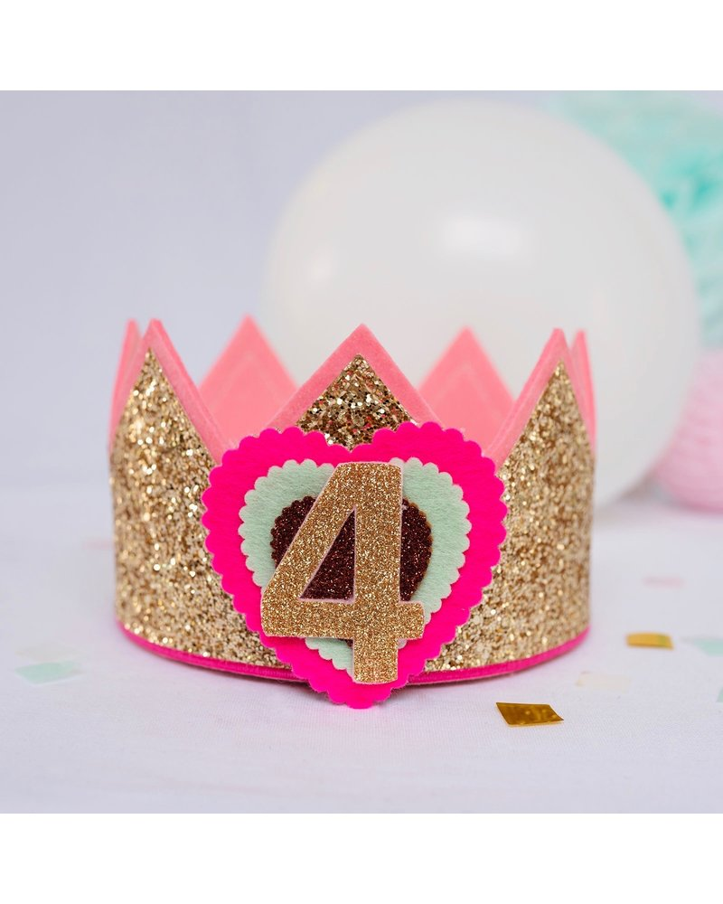 Verjaardagskroon Glitter Happy