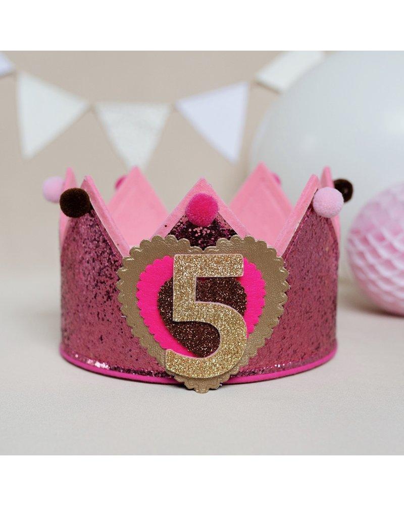Cijfers en hartje voor de Glitter Old Pink