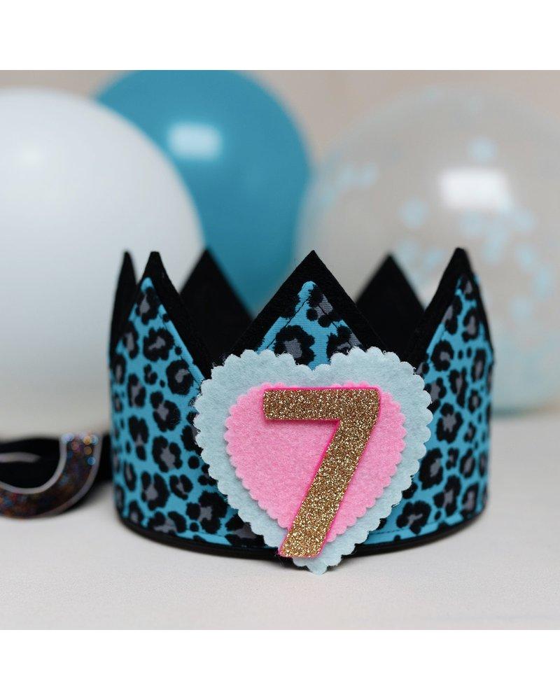 Cijfers en hartje voor de Luipaard Blue kroon
