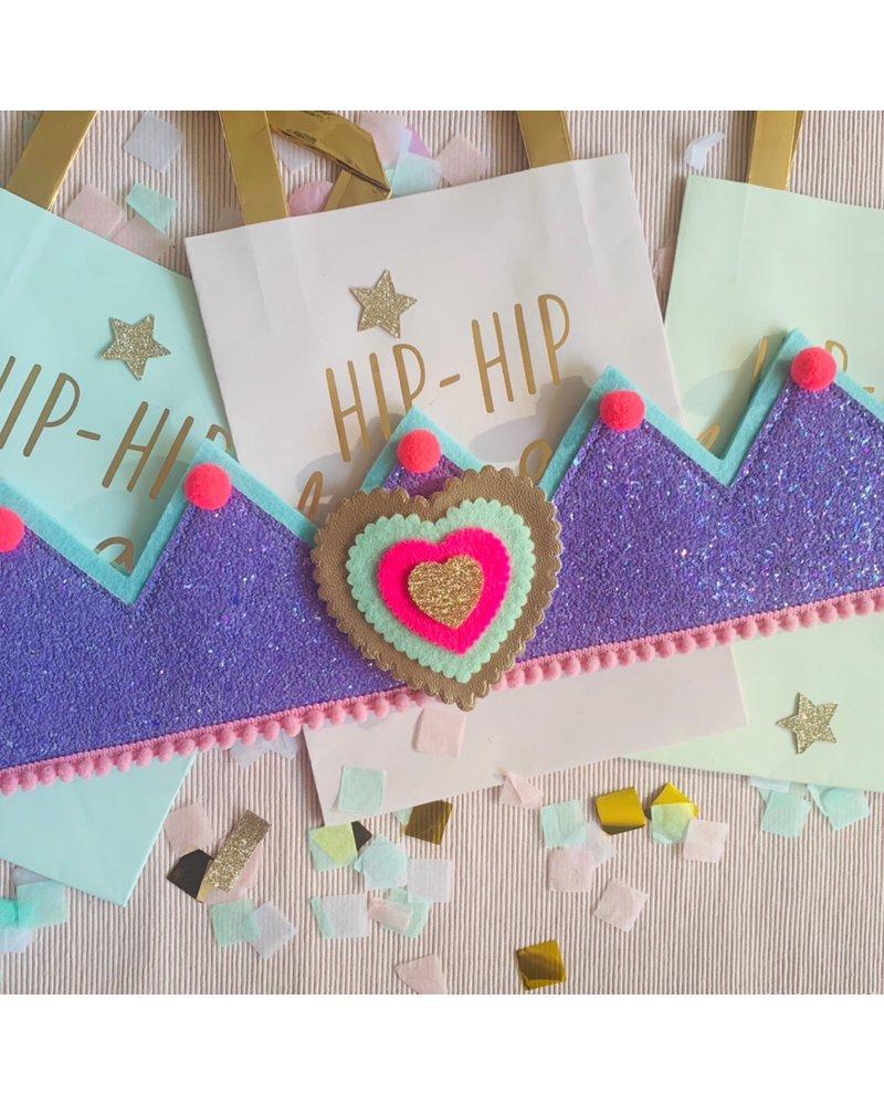 Cijfers en hartje voor het Glitter Purple kroontje