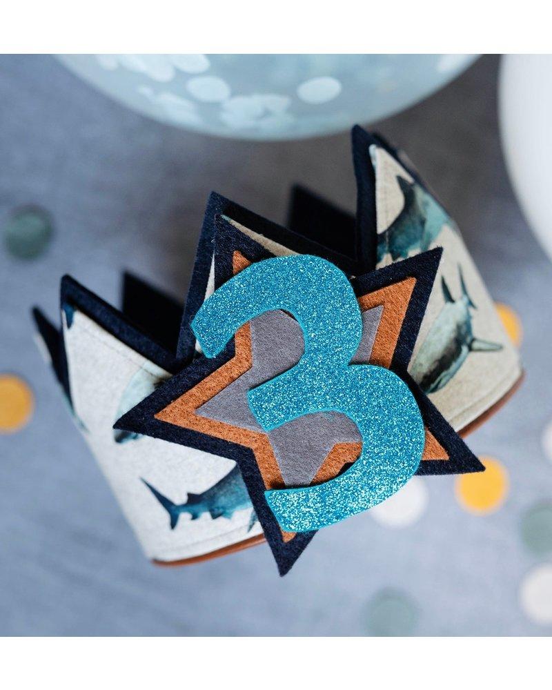 Verjaardagskroon Haaienfeestje dankzij de naaistudio! - Copy