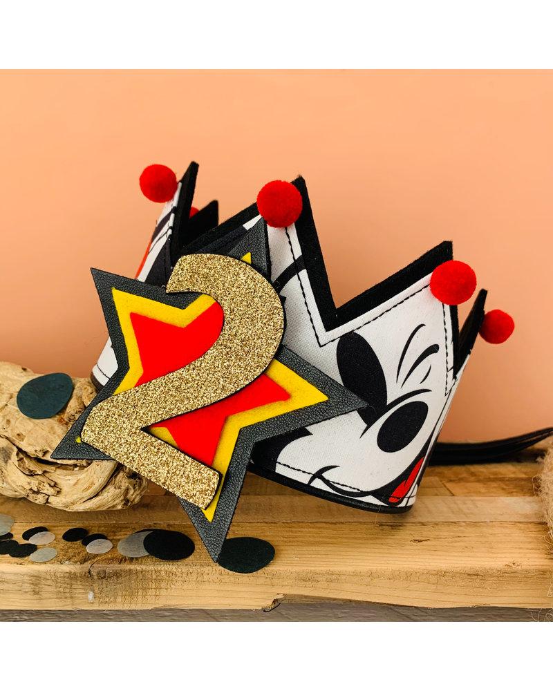 Cijfers en ster voor het Mickey Mouse kroontje