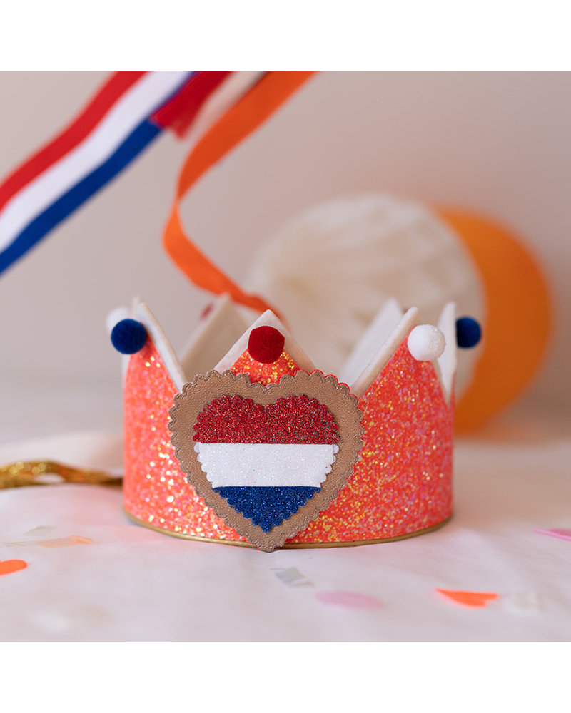Los hartje voor het Glitter Oranje kroontje