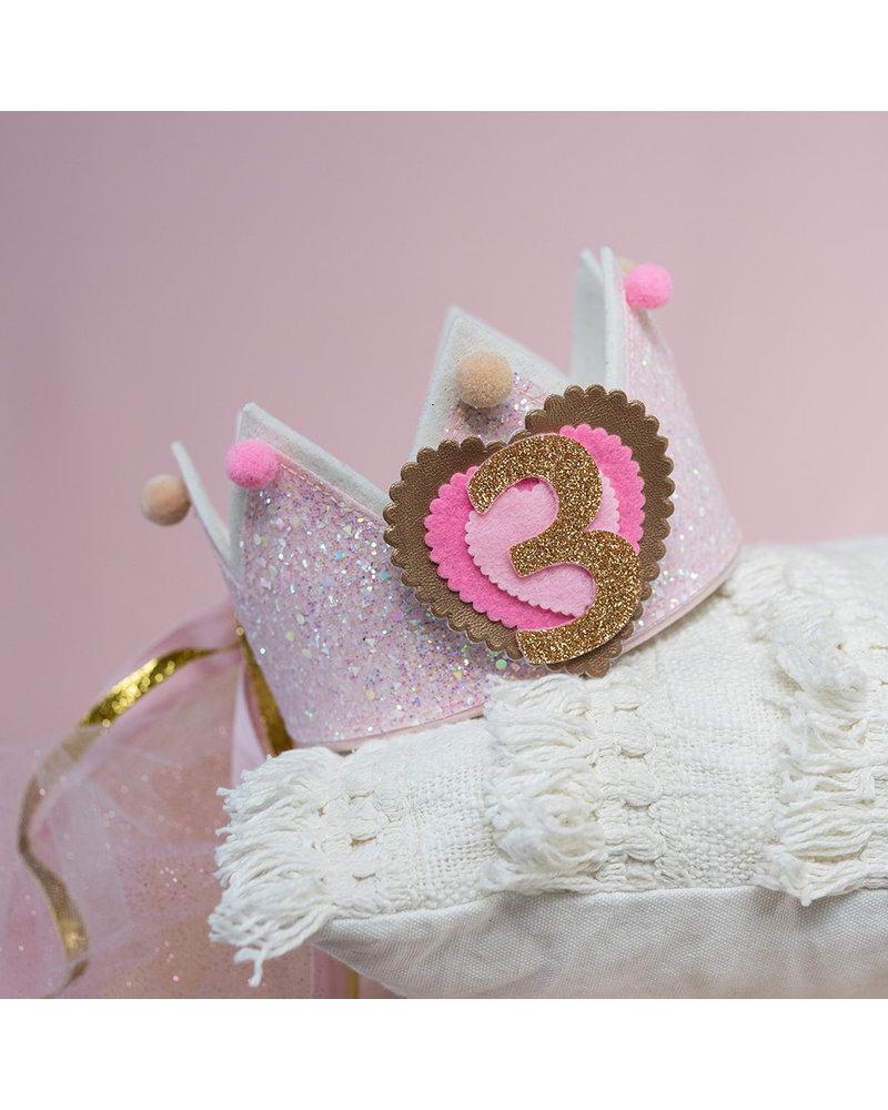 Cijfers en hartje voor het Glitter Soft Pink verjaardagskroontje - Copy