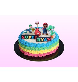 1: Sweet Planet Mario on the rainbow