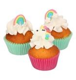 FunCakes Suikerdecoratie Unicorn en regenboog set/8
