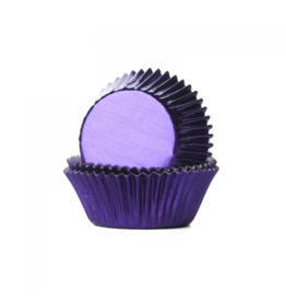 House Of Marie Cupcakecup paars folie 24st