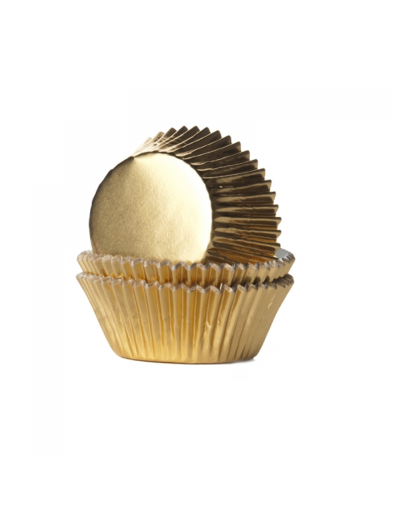 House Of Marie Cupcakecup goud folie 24st