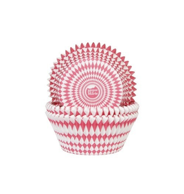 House Of Marie Cupcakecup Harlequino rood 50st