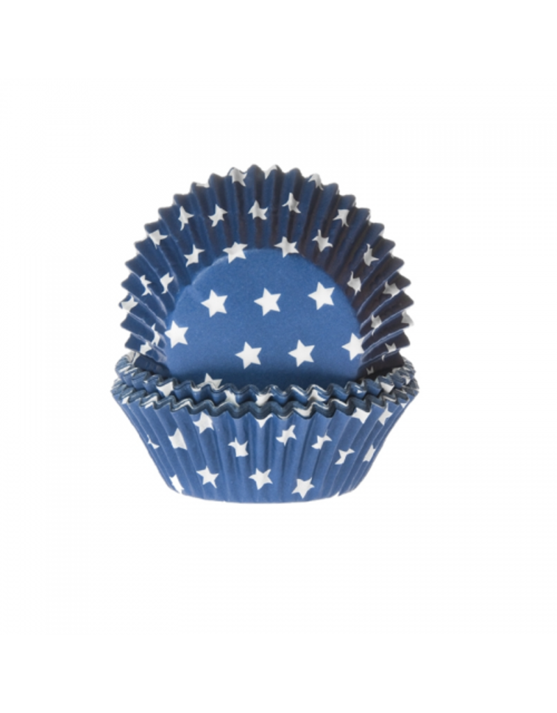House Of Marie Cupcakecup blauw sterren 50st