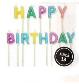 PME Kaarsset happy birthday pastel