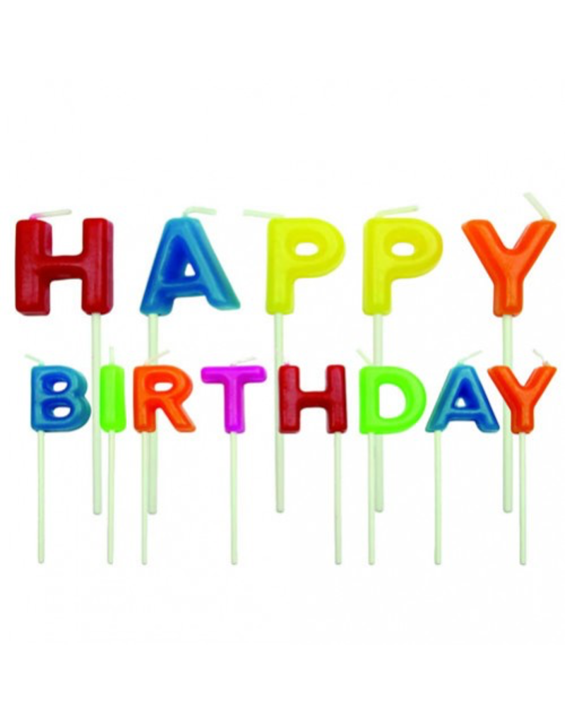 PME Kaarsset happy birthday kleur