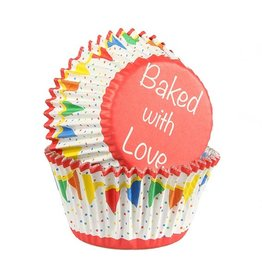 Baked with love Cupcakecup baked with love primary bunting 25st