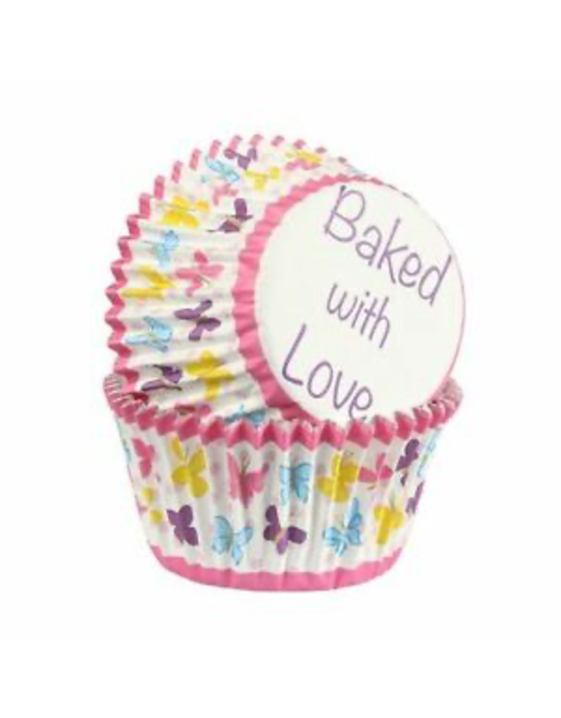 Baked with love Cupcakecup baked with love butterfly 25st