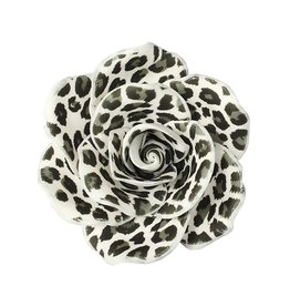 Taarttopper bloem wit/zwart