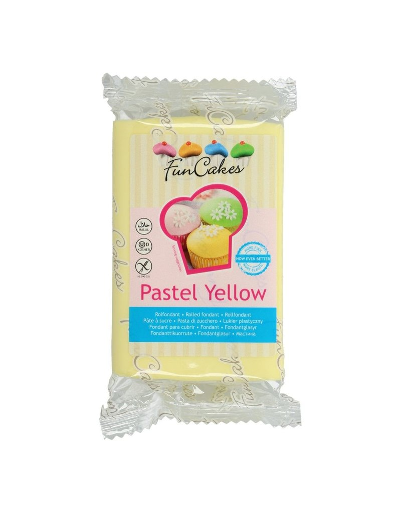 FunCakes Fondant pastel geel