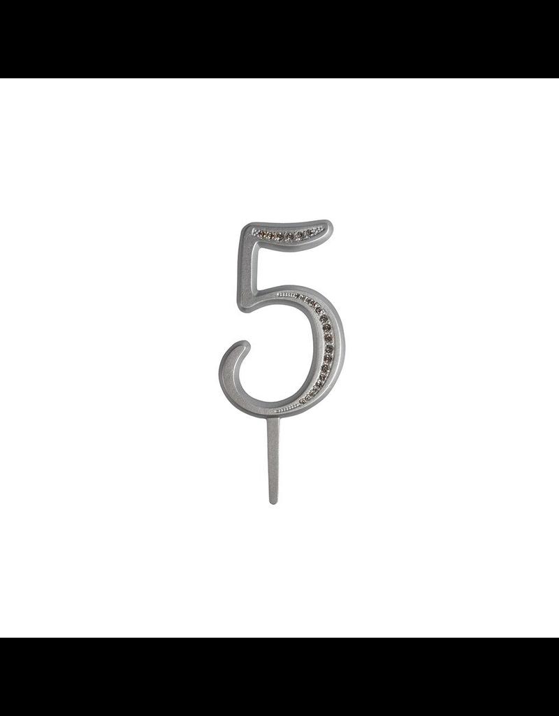 2: Sweet Store Taarttopper luxe cijfer 5